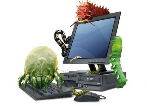 computer infestato da virus e malware